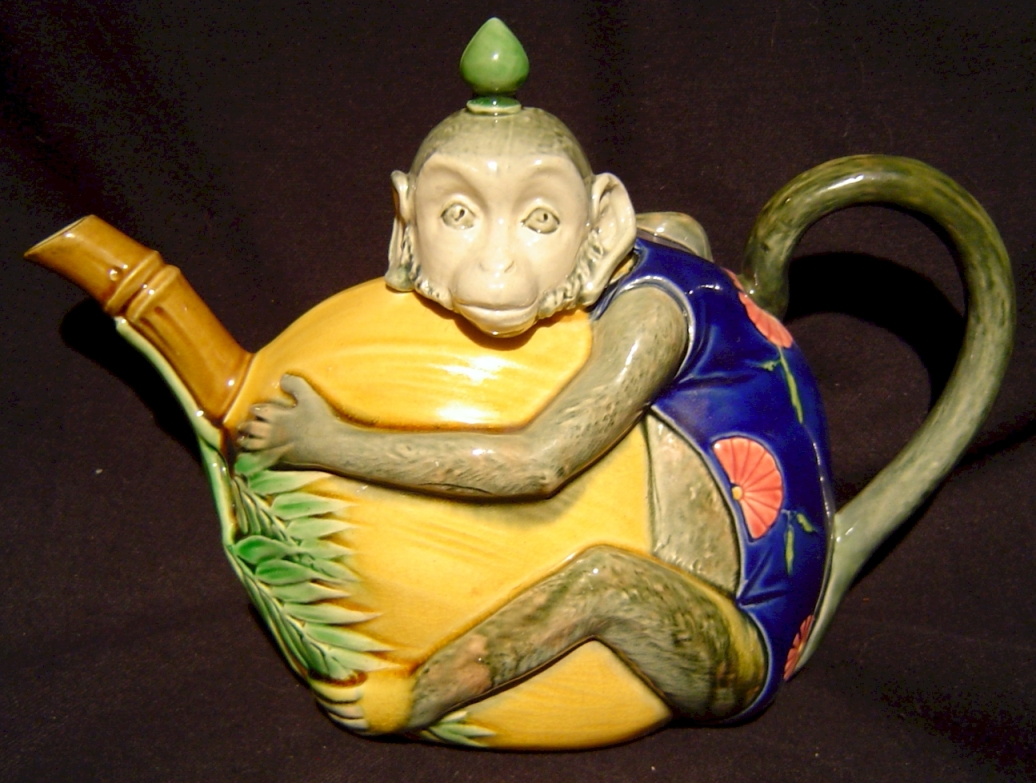 Majolica Teapots and Coffee Pots from Trilogy Antiques